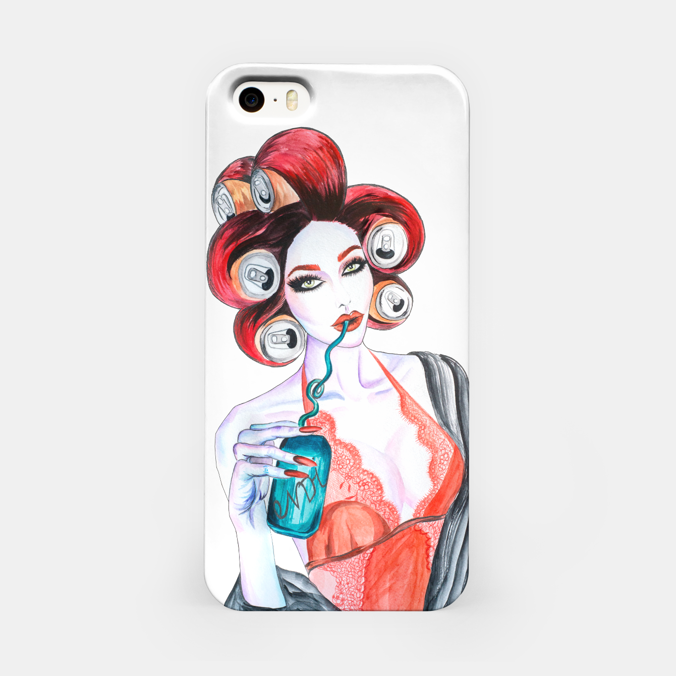 Imagen de Red Head Beauty iPhone Case - Live Heroes