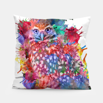Rainbow owl Pillow obraz miniatury
