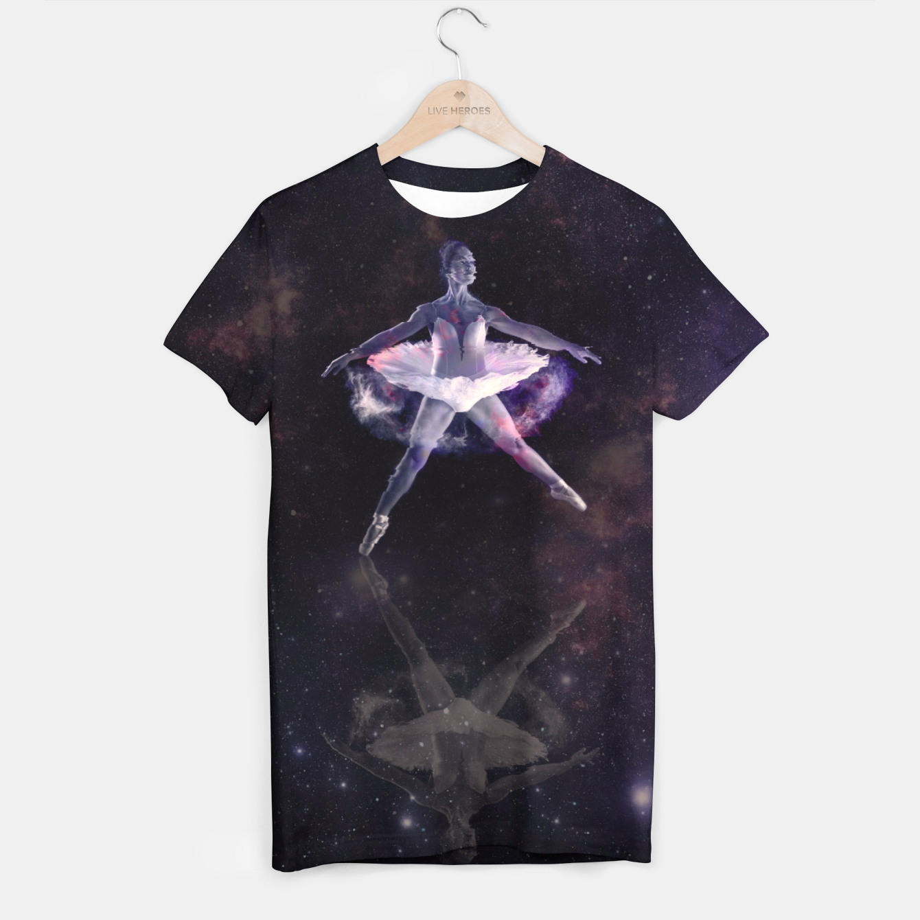Image of Space Form T-shirt - Live Heroes