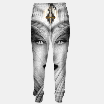 Thumbnail image of Garden Of Dreams Stone Bust Fractal Portrait Sweatpants, Live Heroes
