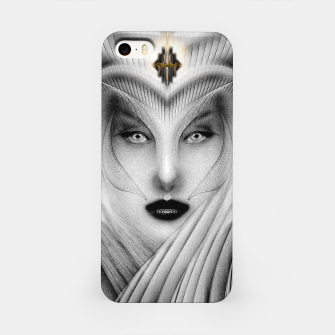 Garden Of Dreams Stone Bust Fractal Portrait iPhone Case thumbnail image