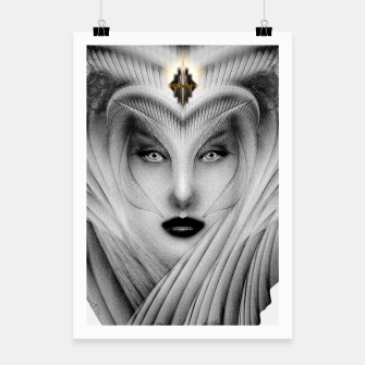 Thumbnail image of Garden Of Dreams Stone Bust Fractal Portrait Poster, Live Heroes
