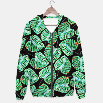 Rain of tropical leaves Hoodie obraz miniatury