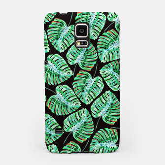 Rain of tropical leaves Samsung Case obraz miniatury