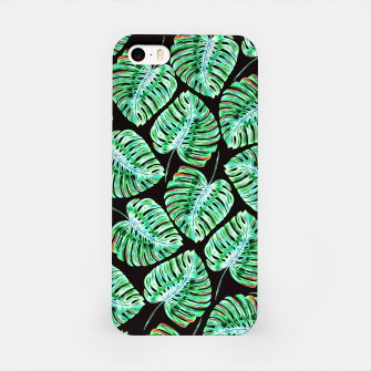 Rain of tropical leaves iPhone Case obraz miniatury