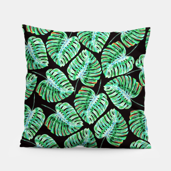 Rain of tropical leaves Pillow obraz miniatury