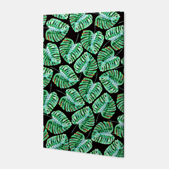 Rain of tropical leaves Canvas obraz miniatury