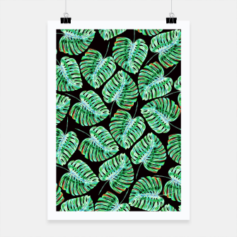 Rain of tropical leaves Poster obraz miniatury
