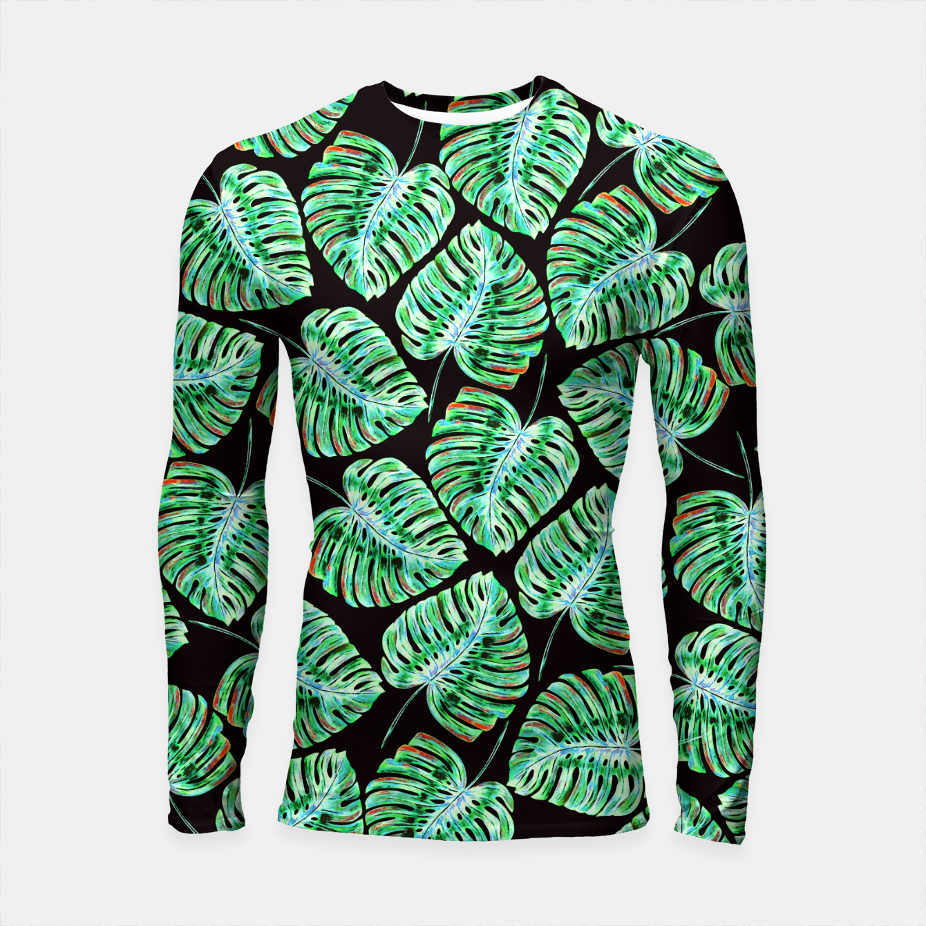 Zdjęcie Rain of tropical leaves Longsleeve Rashguard  - Live Heroes
