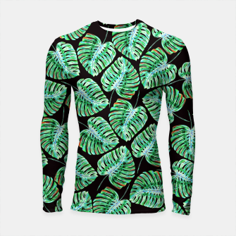 Rain of tropical leaves Longsleeve Rashguard  obraz miniatury