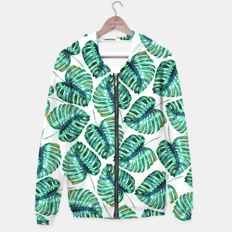 Rain of tropical leaves I Hoodie obraz miniatury