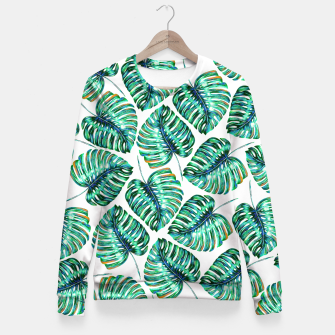 Rain of tropical leaves I Fitted Waist Sweater obraz miniatury