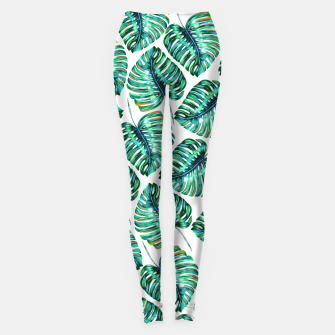 Rain of tropical leaves I Leggings obraz miniatury