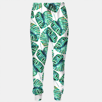 Rain of tropical leaves I Sweatpants obraz miniatury