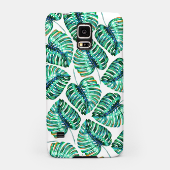 Miniaturka Rain of tropical leaves I Samsung Case, Live Heroes