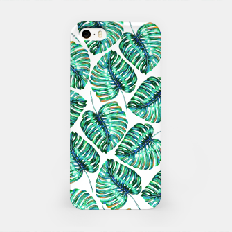 Rain of tropical leaves I iPhone Case obraz miniatury