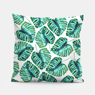 Rain of tropical leaves I Pillow obraz miniatury