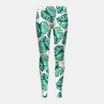 Rain of tropical leaves I Girl's Leggings obraz miniatury