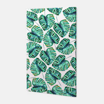 Miniaturka Rain of tropical leaves I Canvas, Live Heroes
