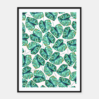 Miniaturka Rain of tropical leaves I Framed poster, Live Heroes