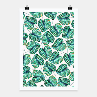 Rain of tropical leaves I Poster obraz miniatury