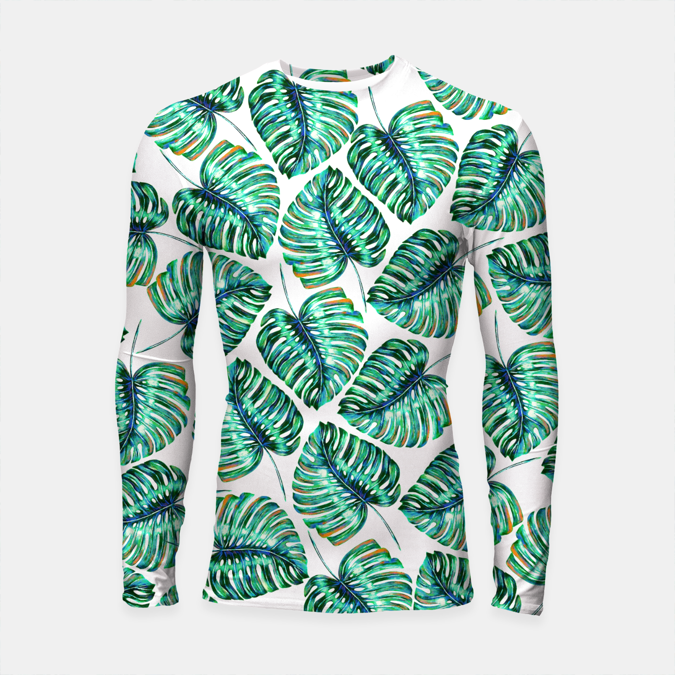 Zdjęcie Rain of tropical leaves I Longsleeve Rashguard  - Live Heroes