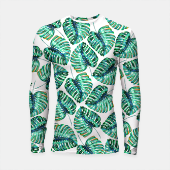 Rain of tropical leaves I Longsleeve Rashguard  obraz miniatury