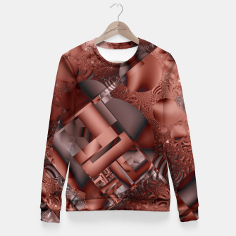 Thumbnail image of structures dark red Fitted Waist Sweater, Live Heroes