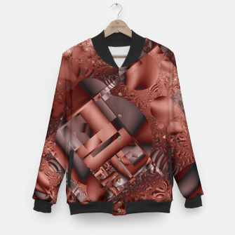 Thumbnail image of structures dark red Baseball Jacket, Live Heroes