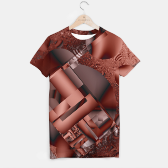 Thumbnail image of structures dark red T-shirt, Live Heroes