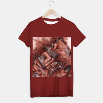 Thumbnail image of structures dark red T-shirt regular, Live Heroes