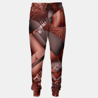Thumbnail image of structures dark red Sweatpants, Live Heroes