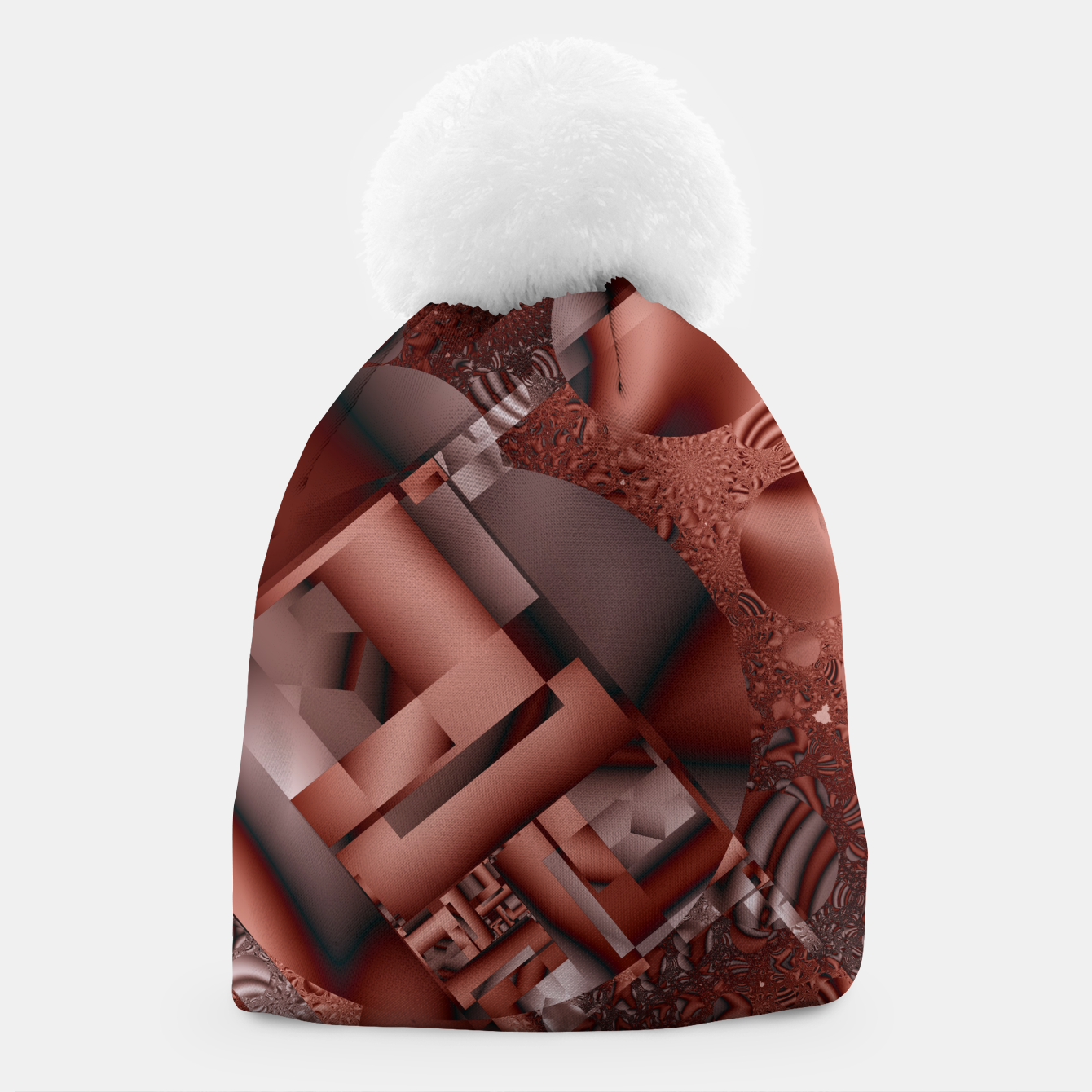 Image of structures dark red Beanie - Live Heroes