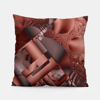 Thumbnail image of structures dark red Pillow, Live Heroes