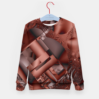 Thumbnail image of structures dark red Kid's Sweater, Live Heroes
