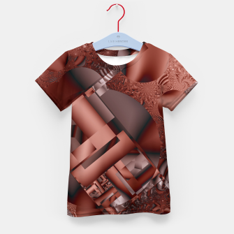Thumbnail image of structures dark red Kid's T-shirt, Live Heroes