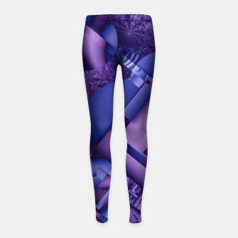 Thumbnail image of structures lilac Girl's Leggings, Live Heroes