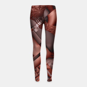 Thumbnail image of structures dark red Girl's Leggings, Live Heroes