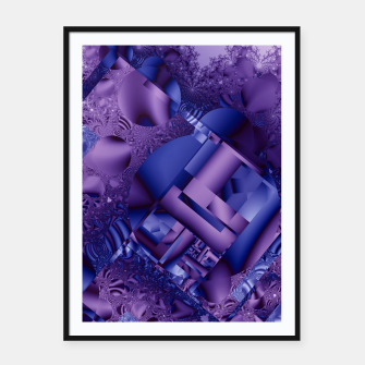 structures lilac Framed poster thumbnail image