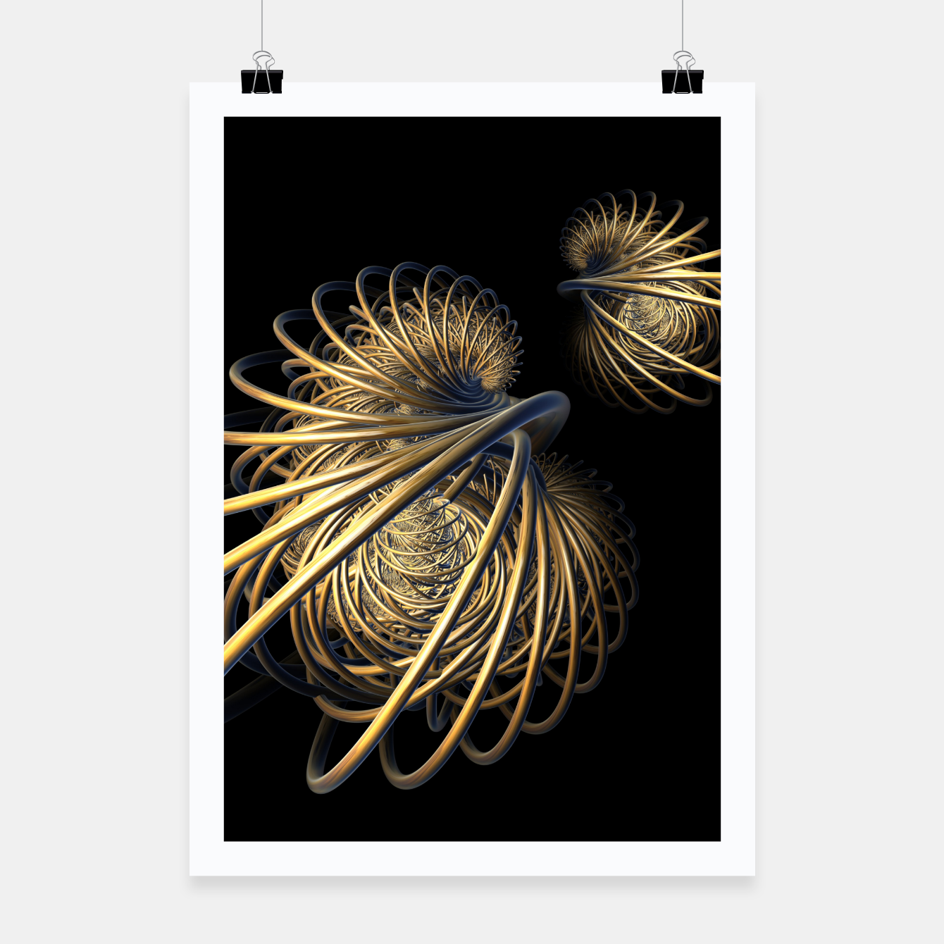 Image of orbits and rings Poster - Live Heroes