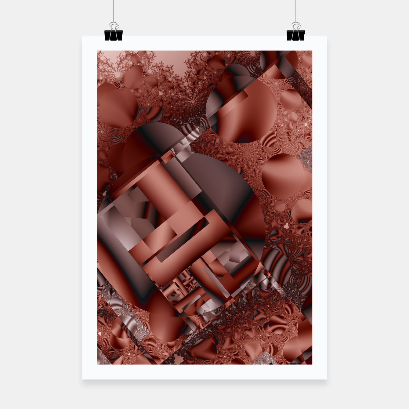 Image of structures dark red Poster - Live Heroes