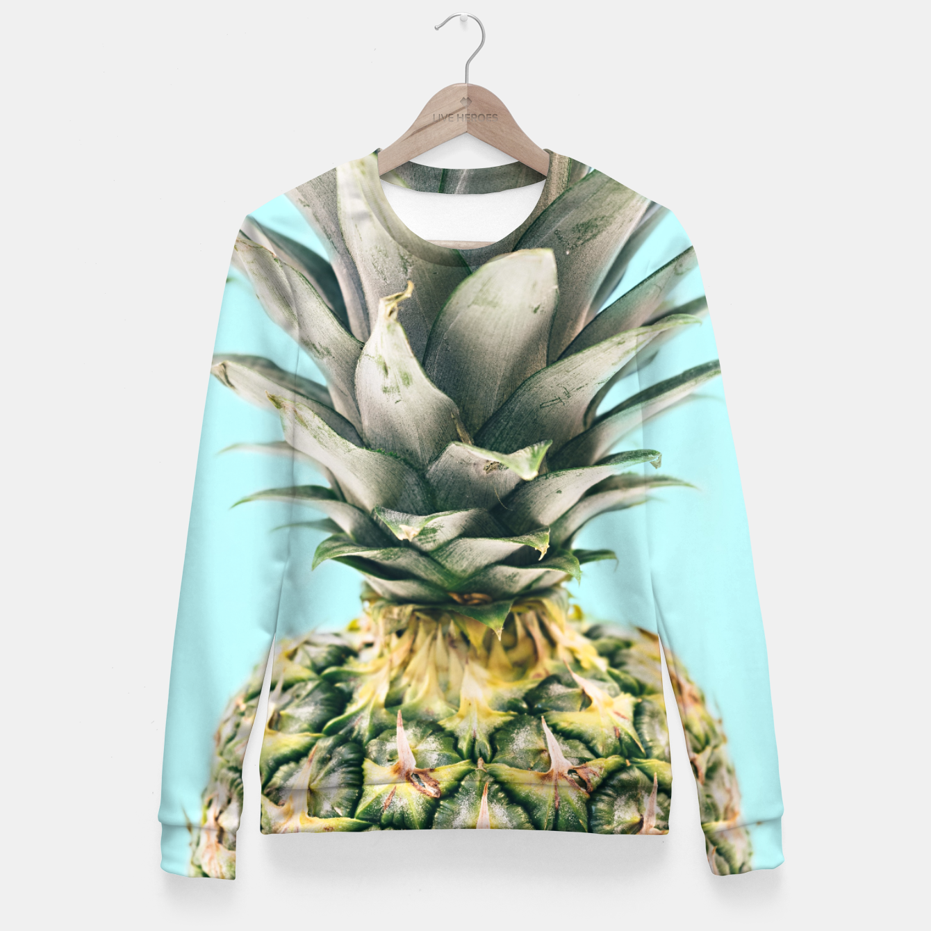 Zdjęcie Tropical Pineapple Fitted Waist Sweater - Live Heroes
