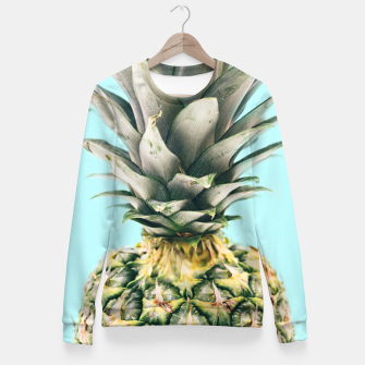 Tropical Pineapple Fitted Waist Sweater obraz miniatury