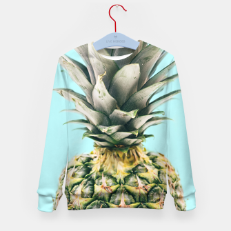 Tropical Pineapple Kid's Sweater obraz miniatury