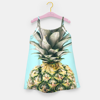 Tropical Pineapple Girl's Dress obraz miniatury