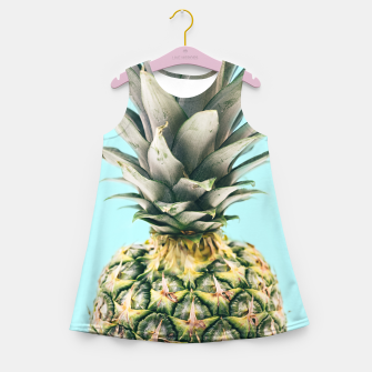 Tropical Pineapple Girl's Summer Dress obraz miniatury
