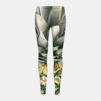 Tropical Pineapple Girl's Leggings obraz miniatury