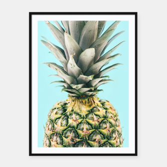 Tropical Pineapple Framed poster obraz miniatury
