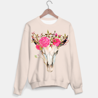 Thumbnail image of Flowery animal skull Sweater, Live Heroes