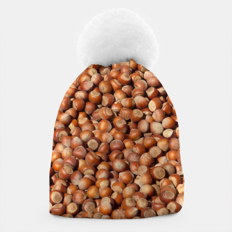 Thumbnail image of Brown Hazelnuts Pattern Beanie, Live Heroes